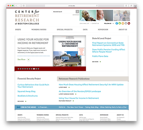 Center for Retirement Research Website